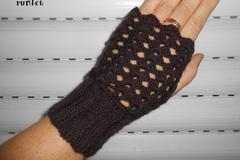 Vente au détail: Mitaines laine dentelle  crochet,accessoire d'hiver/mitaines