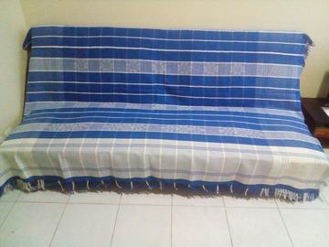 Vente au détail: Jeté bleu (lit ou canapé)