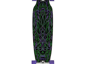 "For Sale: Pinstriping 40"" Longboard Complete Skateboard Black Osprey"