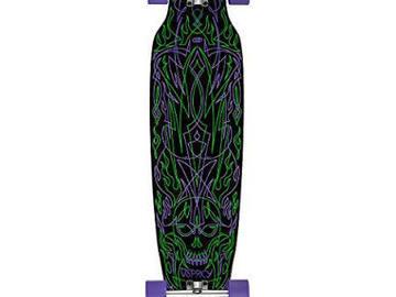 """For Sale: Pinstriping 40"""" Longboard Complete Skateboard Black Osprey"""