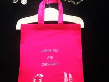 Vente au détail: Tote Bag Shopping Rose