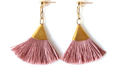 Products: BLUSH TASSEL EARRINGS | FAN