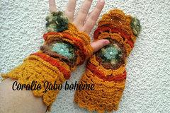 Vente au détail: Mitaines hiver grosse laine faite-main