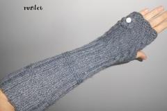 Vente au détail: Mitaines gants,manchettes griselonges fleur,trico/gants de S