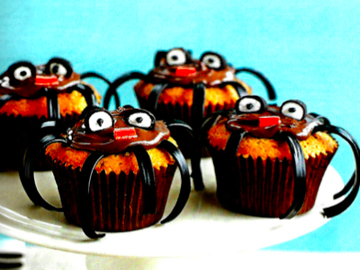 Partage: Muffins d'araignées