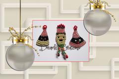 Vente au détail: 3 Figurines de Noël réalisées au fil de fer