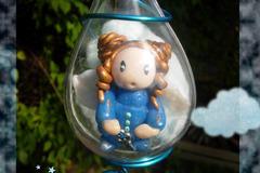 Vente au détail: Ange bleue dans une goutte à suspendre
