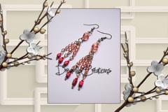 Vente au détail: Boucles d'oreilles en perles de verre et rocaille
