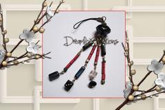 Vente au détail: Bijoux de sac en perles de rocaille métallisée et perles