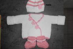 Vente au détail: brassière bonnet chaussons bébé/ensemble bébé naissance/tric