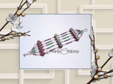 Vente au détail: Bracelet en perles de rocaille métallisée