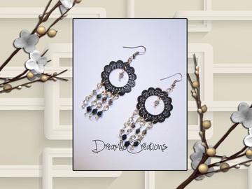 Vente au détail: Boucles d'oreilles  perles de swarovski