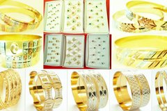 Sell: Mixed Jewelry lot-Multilayered Golden Bangles, Fashion Rings