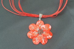 Vente au détail: Collier fleur d'été rouge