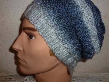 Vente au détail: modèle unique bonnet avec trois nuances de gris pour adulte