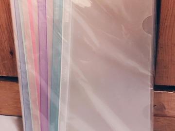 Myydään: Transparent File Folder Sliding Bar Report Covers for A4