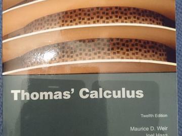 Myydään: Thomas' calculus
