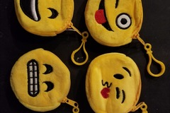 Sell: Soft coin bags, emojis lot of 536pcs