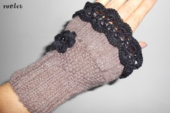 Vente au détail: mitaines tricotées/Manchettes en laine trico