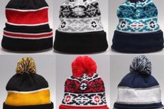 Bulk Lot: 120 Assorted Women's & Men's Cotton Knit Beanie Hats