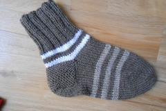 Vente au détail: 2 paire Chaussettes femme laine marron Pointure ..38.39,cade
