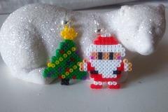 Vente au détail: Magnifique boucles d'oreilles duo de Noël