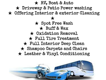 Offering: Mobile detailing and power-washing - Fort Myers, FL
