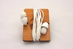 Products: Reclaimed kauri earphones holder