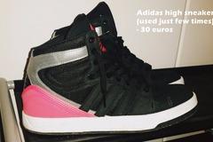 Myydään: Coat and women Adidas shoes size 38