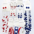 Buy Now: 132 Piece New Dept. Store Jewelry & Display - Red White & Blue