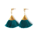 Products: TURQUOISE TASSEL EARRINGS | FAN