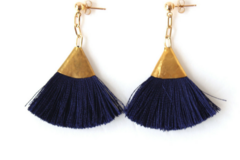 Products: NAVY TASSEL EARRINGS | FAN