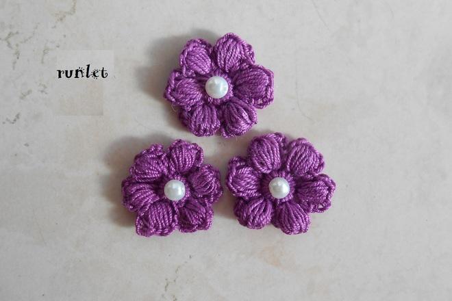 Crochet Flower Fleur A Coudre Fleur Coton Application Fleur Creachic