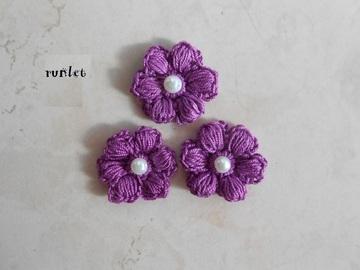 Vente au détail: crochet flower/fleur a coudre/fleur coton/Application fleur/