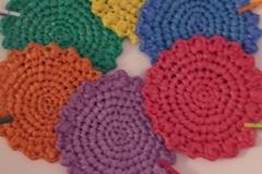 Vente au détail: Upcycling Six dessous de verre crochetes sacs plastique