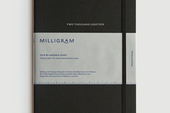 Products: Milligram – 2018 Agenda Weekly Diary B5 – Black