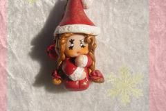 Vente au détail: Figurine lutine de Noël (Version 3 )- Décoration sapin de No