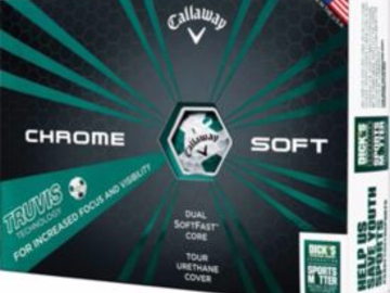 Selling: Callaway Chrome Soft Green Truvis Golf Balls - Sports Matter