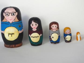 Vente au détail: Matriochka - portrait de famille (sur commande)