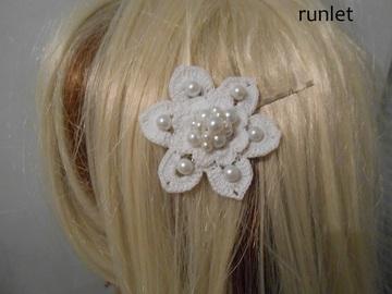 Sale retail: accessoire coiffure/Pince à Cheveux/Pince a cheveux fleur bl