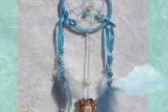 Vente au détail: Mini Attrape-rêves féerique figurine ange bleue- Décoration