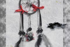 Vente au détail: Mini Attrape-rêves gothique lutin zombie kawaii