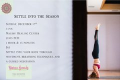 Offering: Settle into the Season: Yoga Workshop