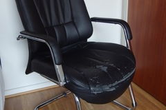 Giving away: FREE office chair, rocking chair, pillow, curtains