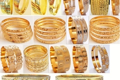 Sell: (285) New Multitone Multilayer Golden Bangles -PRICE DROP !!