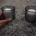Ilmoitus: Kynttiläkipot 17 kpl, harmaa