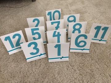 Ilmoitus: Kartonkiset pöytänumerot