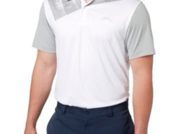 Selling: Slazenger Men's Mineral Chest Print Golf Polo