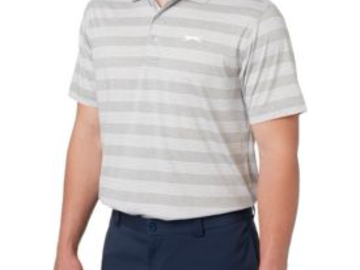 Selling: Slazenger Men's Tech Stripe Golf Polo