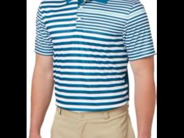 Selling: Slazenger Men's Mineral Spliced Stripe Golf Polo